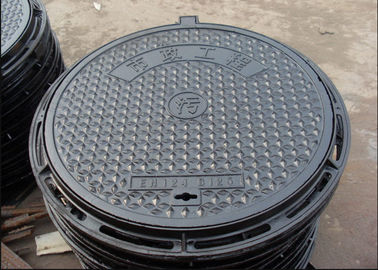 Watertight Ductile Iron Manhole Cover Apply To EN124  ISO9001 Standard Customized Product